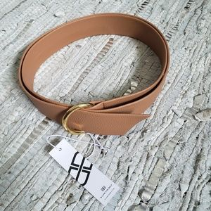 B-Low the Belt tan Mia wrap belt gold O-ring